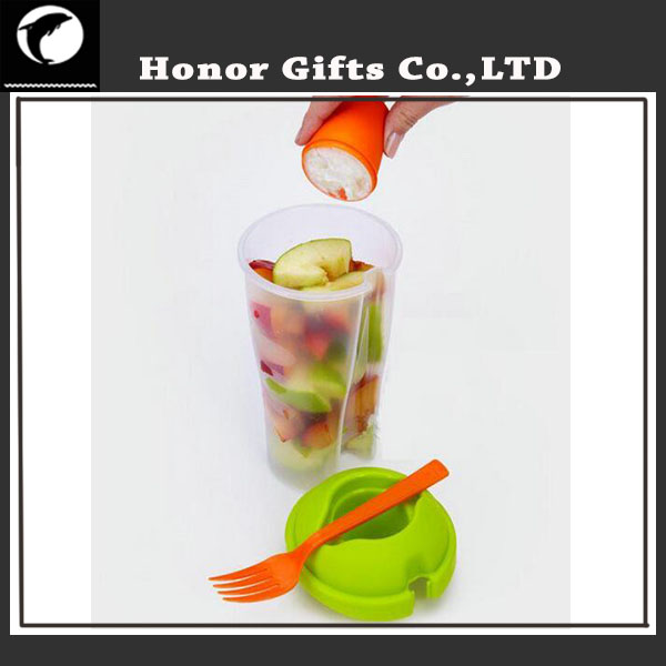 FDA Grade Disposable Fruit Salad Container With Fork