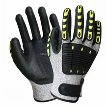 HTR 13G Cut resistant nitrile coating mechanic gloves