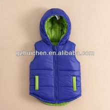 mom and bab 2013 baby clothes two sides wear quilted vest