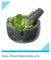 Natural Granite Pestle and Mortar Grinder Spice & Herb Crusher Kitchen Set 14cm