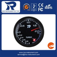 52mm white LED stepping motor meter Turbo Boost Gauge