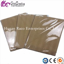 wave pattern and thin horizontal wood color corrugated cardboard