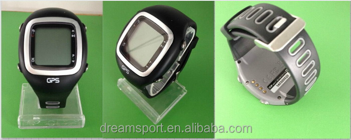 Golf gps watch in black with free worldwide golf courses,compare to S3
