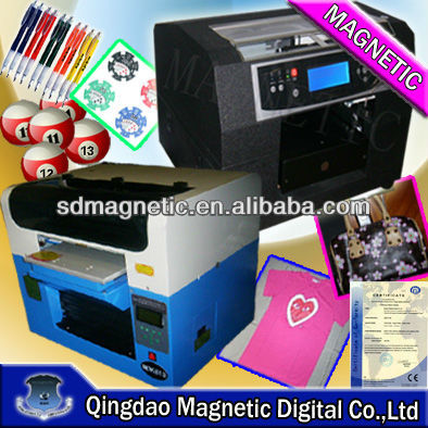 A3 black t shirt printer/can print white ink printer