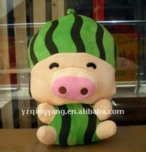 16'' cute plush McDull toy with watermelon shaped