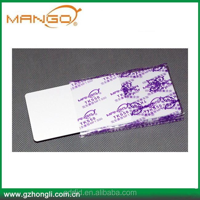 13.56mhz PVC Printable RFID Smart Card for Access Control system and Identification