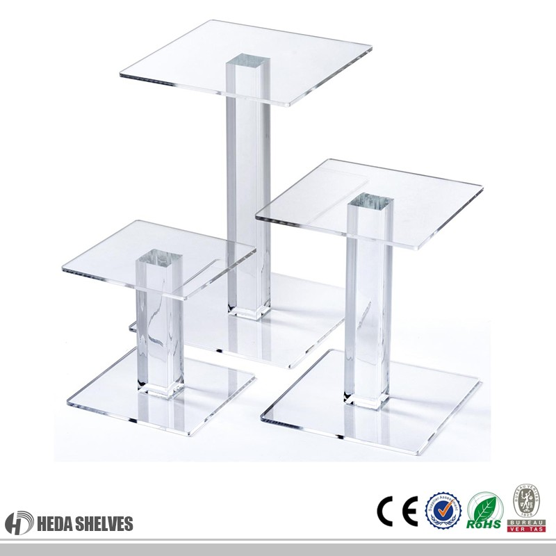 Customized Cheap Wholesale Clear Acrylic Stand For Display Food/Shoes/Clothes/Supermarket