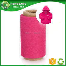 Recycle regenerated cotton polyester loop yarn open end count 21s fabric for sweater
