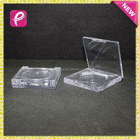 New transparent square eyeshadow container for compact powder case