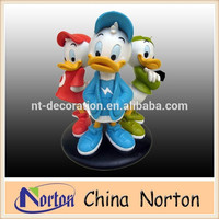 life size fiberglass statue cartoon duck statue NTRS-CS429R