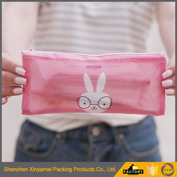 Custom Waterproof vinyl pencil pouch pvc plastic pencil bags cute pencil bag
