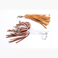 Wholesale fashion design USB tassel with metal clasp,leather USB tassel with 3 connectors