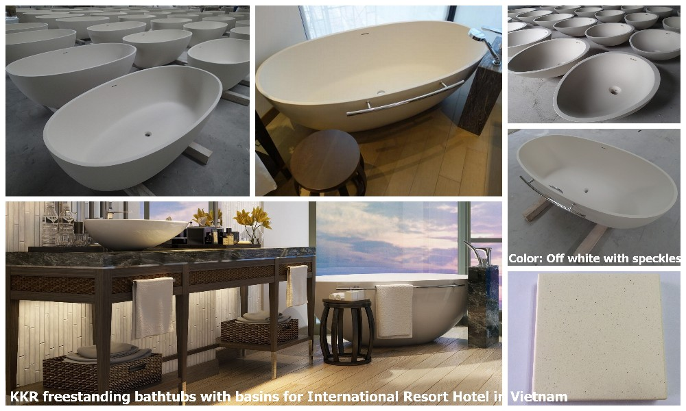 Hotel luxury bathroom stone resin freestanding bath