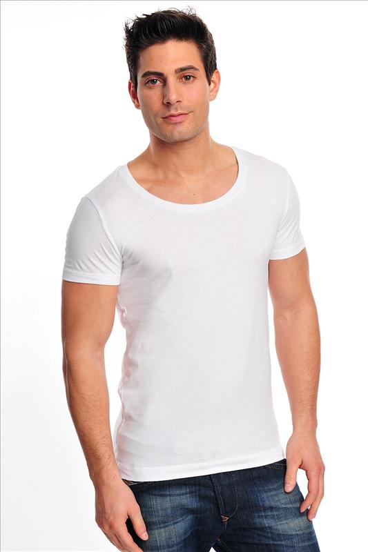 White Deep O-Neck T-Shirt