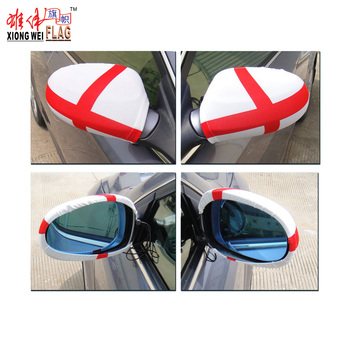 Custom wholesale world flag car mirror flag