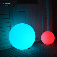 PE plastic waterproof outdoor big led light balls