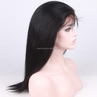 indian hair 24 inch front yaki straight lace wig