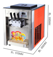 3 flavor used soft serve ice cream machine