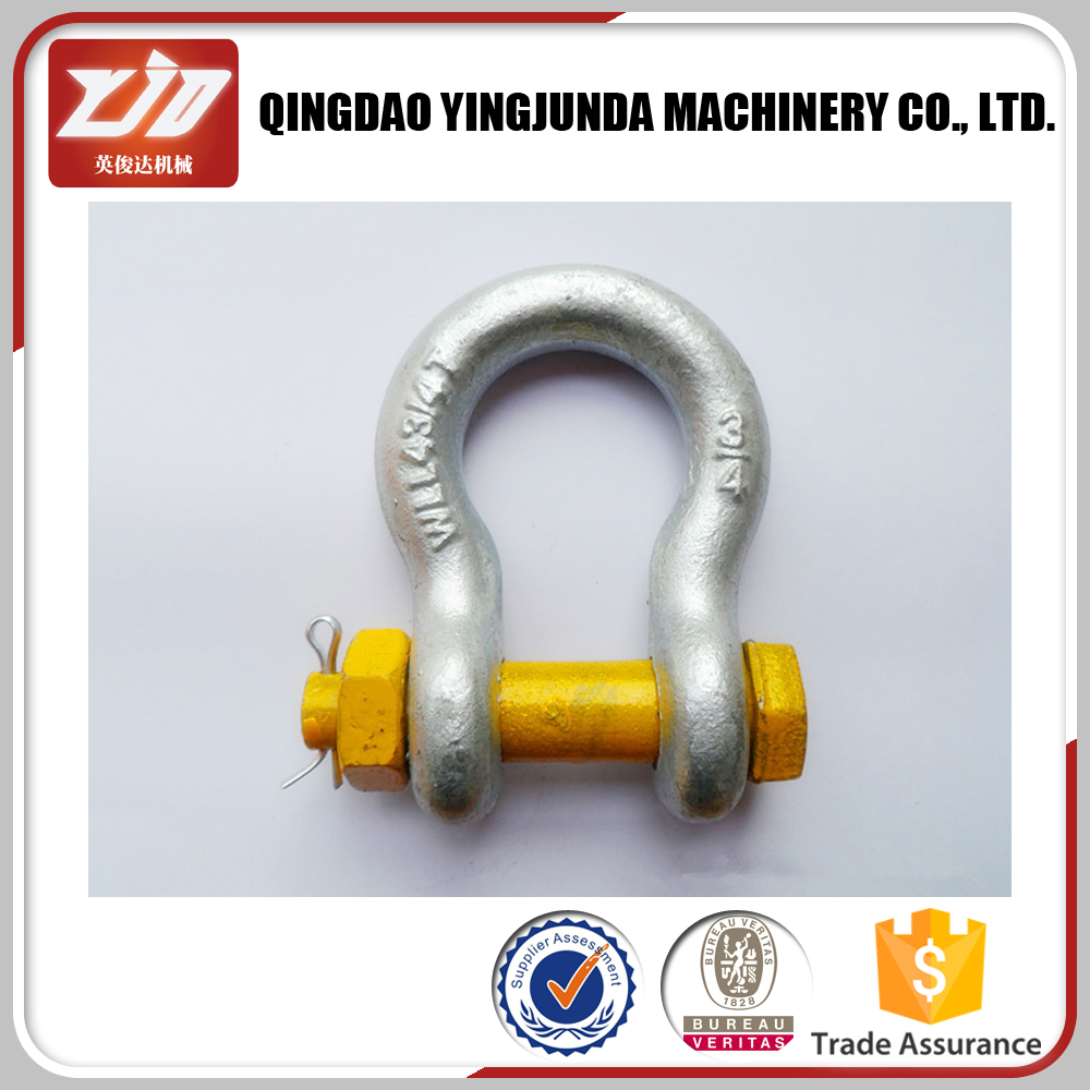 High Quality Marine Hardware Stainless U.S. Bolt Type Anchor Shackle