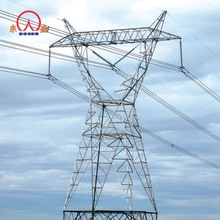 Tube 132kv eletric lattice steel poles high voltage transmission tower design