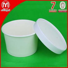 Disposable paper soup cup with lid