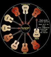 "Sqoe 36"" travel series acoustic guitar"