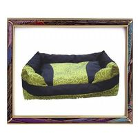 UW-PB-300 Super soft square light green cotton pet bed for dogs