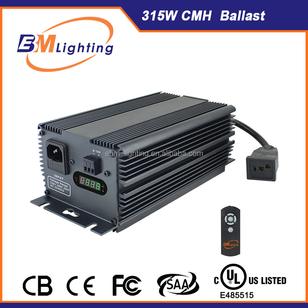 Own factory UL passed electronic ballast 315w CMH/CDM digital ballast LED display 315w grow light ballast for hydronipics