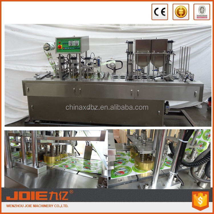 JOIE automatic plastic cup form fill seal machine