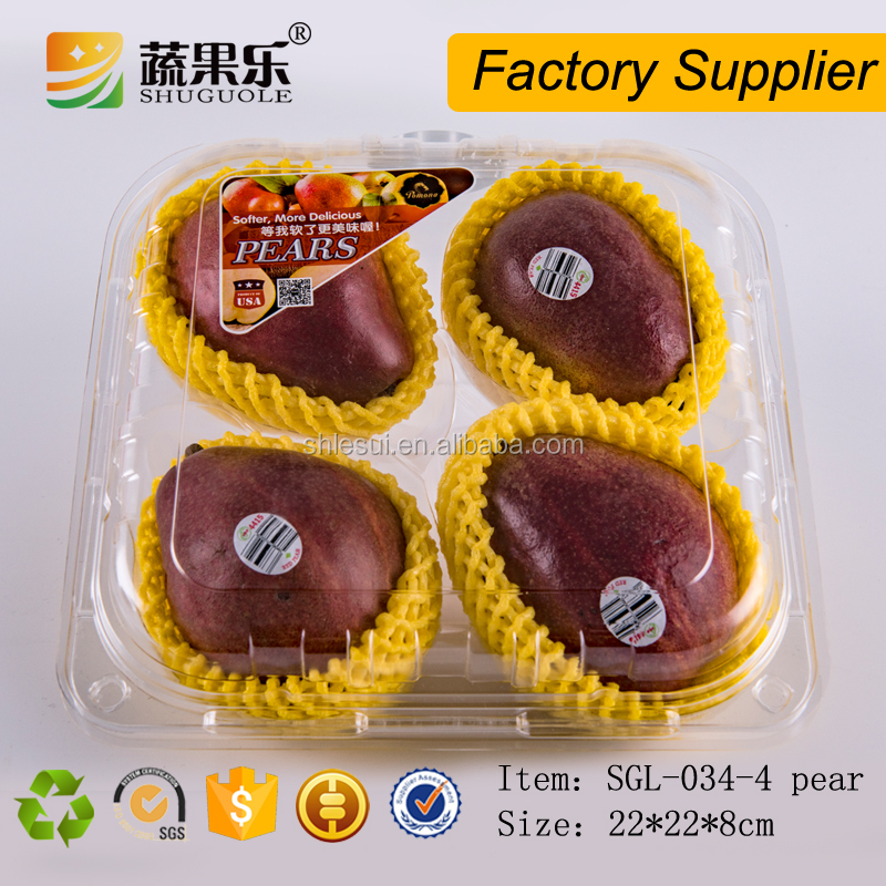 Supermarket display thermoformed avocado packaging box