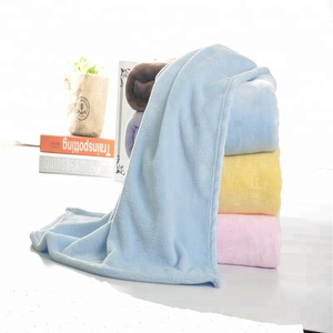 Woven Technics Customized Color Size Soft Plush Solid Flannel Fleece Baby Throw Blanket Portable