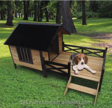 Good Quality wholesale Wooden dog kennel with veranda