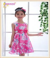Full flowers fashion kid dress korean kids clothes wholesale dress summer children wear