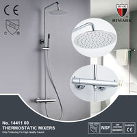 Italian style surface mounted brass bath and shower mixer