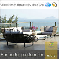 2014 modern outdoor synthetic rattan garden furniture