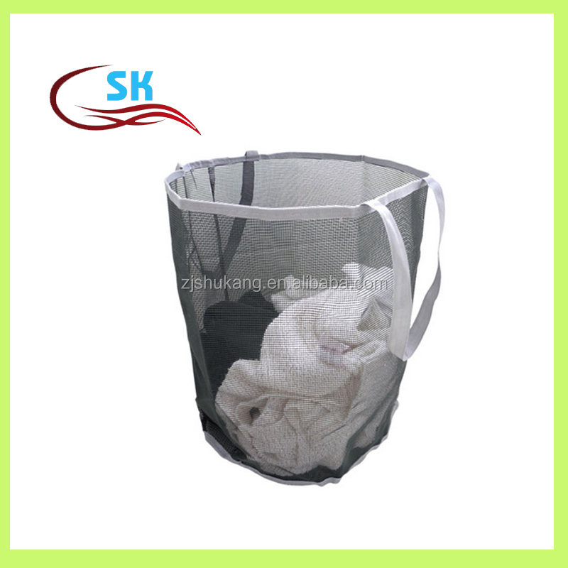Zhejiang Shukang popular versatile washable mesh cloth laundry bin for dirty cloth