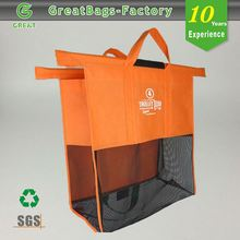 Stock Reduce Reuse Recycle Stylish foldable reusable grocery cart bag