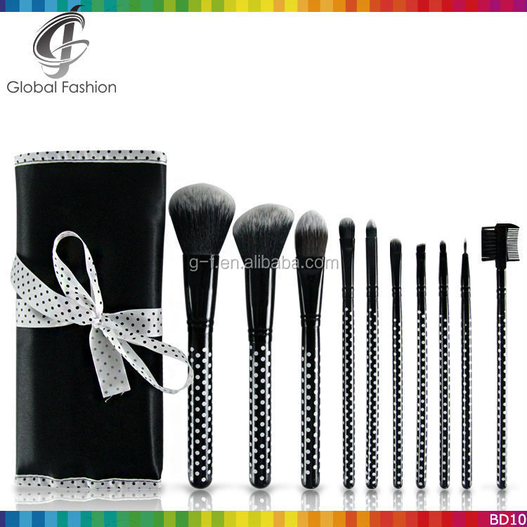 High Quality Cosmetics 10pcs professional makeup brushes