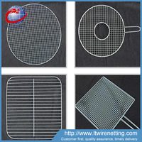 Disposable barbecue bbq wire mesh net / ss bbq grill netting