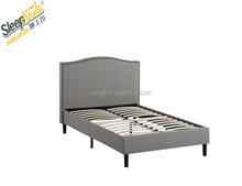 Mircofiber fabric bed furniture simple designs bed, Linen fabric bed frame queen