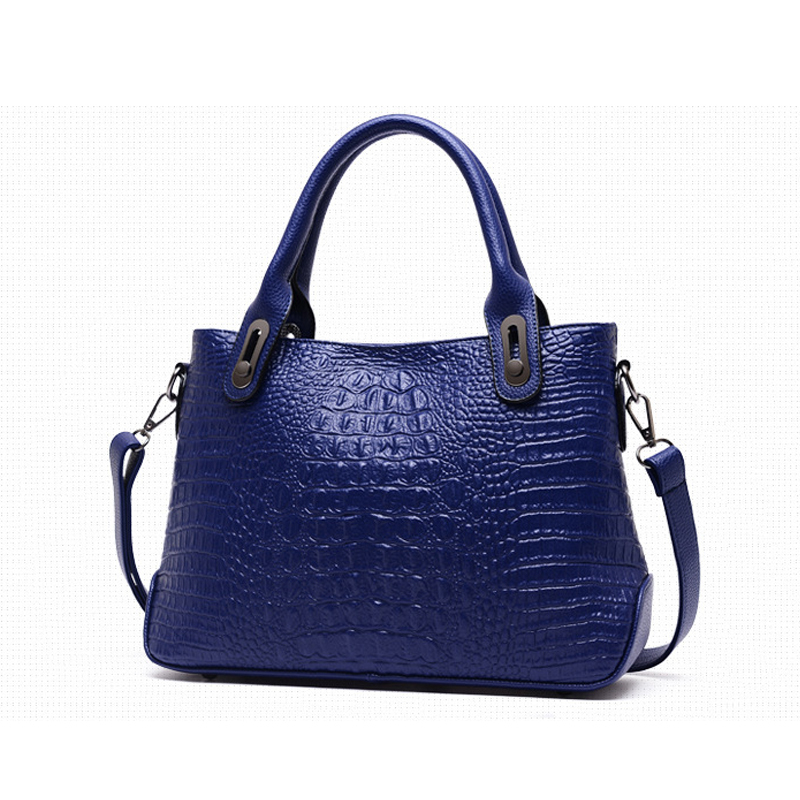 Designer Women PU Leather Handbags High Quality Women Tote Bag Women's Shoulder Bags Alligator Blue/White/ Red/Black