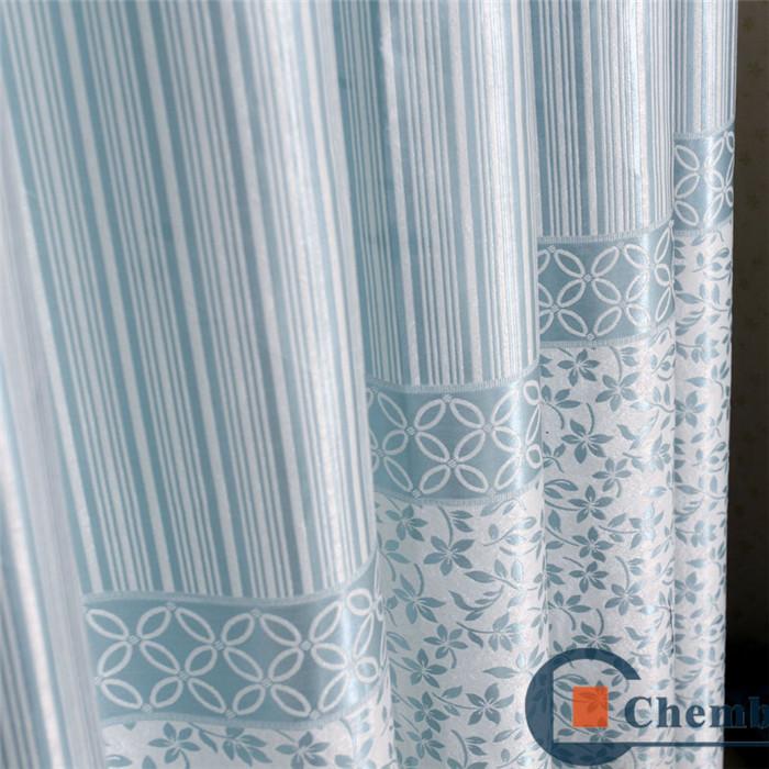 Blue Color Jacquard Fancy Net Blackout Motorized Window Shades Curtains Buy Blackout Motorized