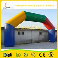 0.6mm thickness PVC tarpaulin fashionable inflatable arch, beautiful wedding arch for sales