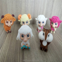 plastic animal model toys 3D flocking sheep model toys for collection