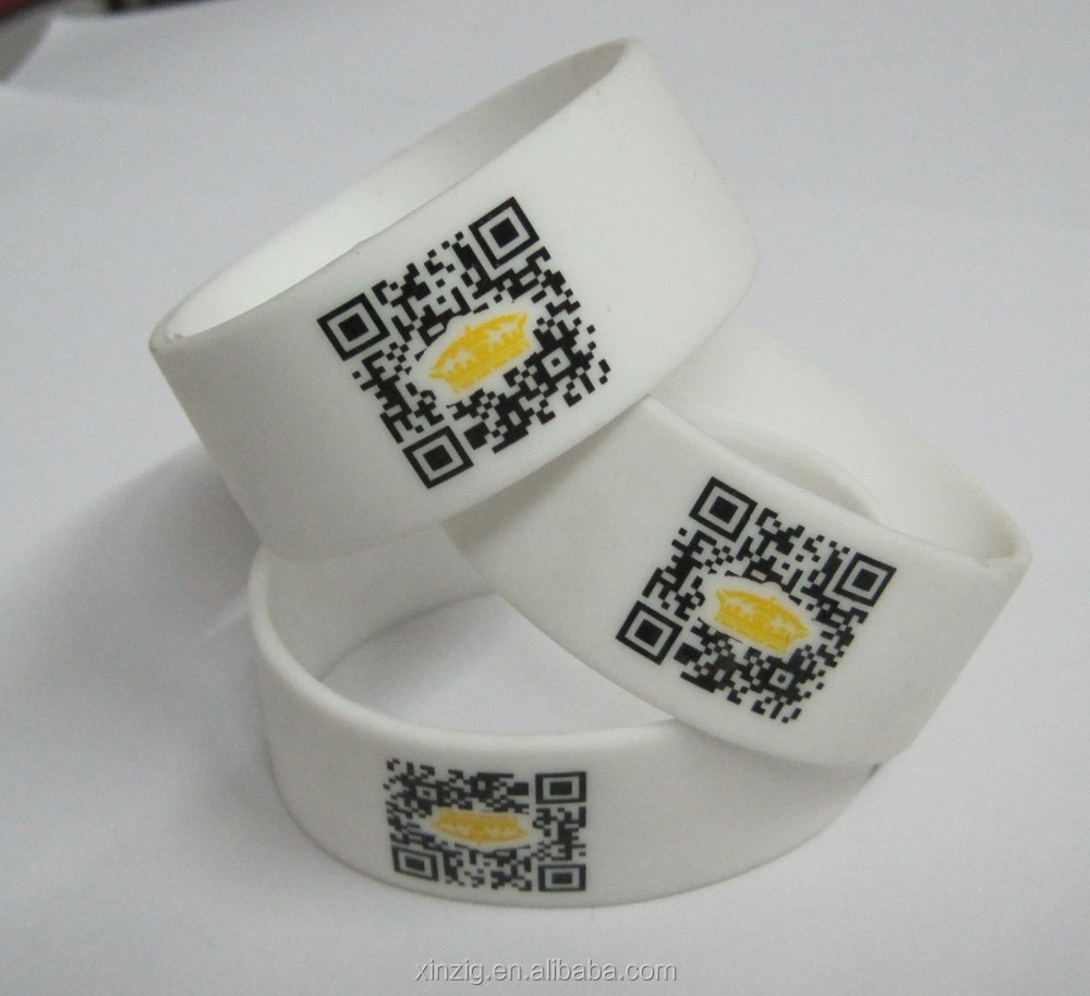 Advertising Silicone Bracelet Customized QR Code