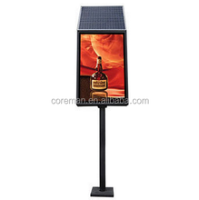 Coreman full color led smd screen P10 P16 P8 Waterproof Street Lamp Pole 3G Advertising led Display