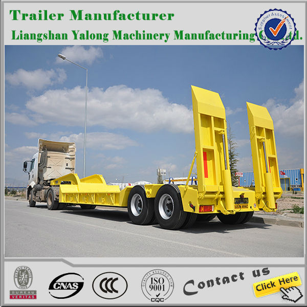 china high quality hot sale low bed truck trailer