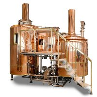 500L hotel and restaurant red copper beer brewery equipment