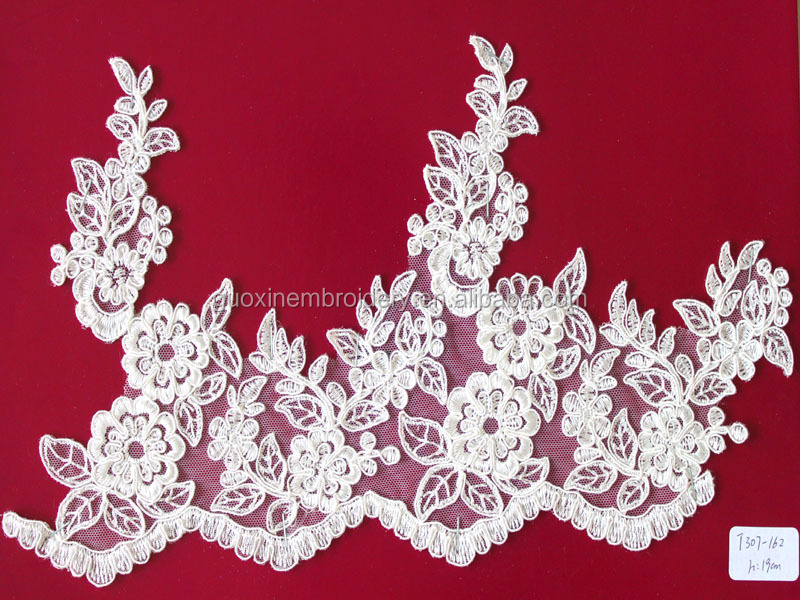 2016 fashion lace trim/ soft voile lace wedding dress accessories wholesaler