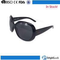 China wholesale in stock no MOQ big frame plastic novelty sun glasses women